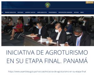 INICIATIVA DE AGROTURISMO EN SU ETAPA FINAL. PANAMÁ